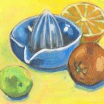 Still life citrus juicer