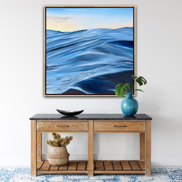 Coastal Interior Hamtptons Style Alanah Jarvis Ocean Abstract Painting
