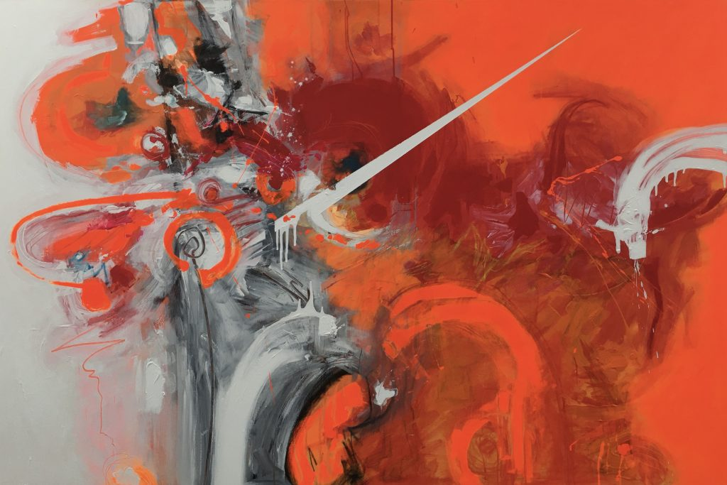 David White Artist Large Abstract Paintings Art Lovers Australia Red