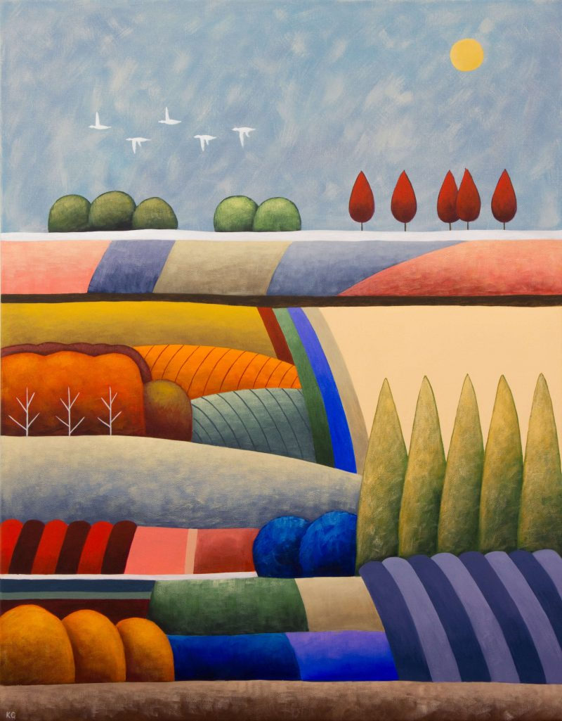 Kate Graham Art Lovers Australia Pastel Patchwork No8 24x30 Large 800x1025