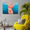 Life Beings At Lounge Interior Underwater Bikini Painting