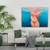 Underwater Bikini Painting Alanah Jarvis Tropical Art