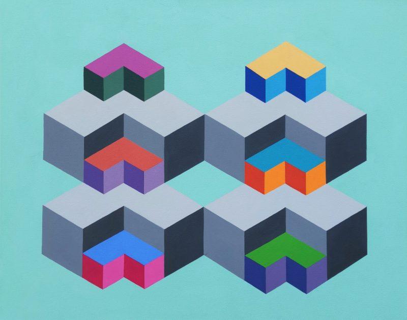Baby Steps Daddy Steps 7 Hard Edge Geometric Abstraction Australian Artist Min Ray 1 800x630