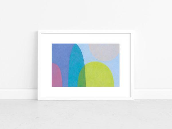 Charlotte De Pace Paper Moon White Frame Art Lovers Australia