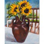 Three Golden Sunflowers in Rigmarole Studio