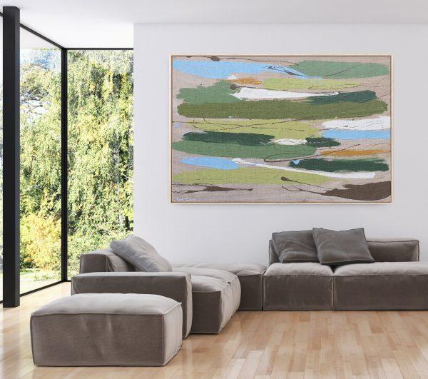 Gabriela Azar Schreiner Large Painting Abstract Art 24