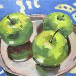 Still life green apples