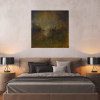 Ivona Radic In Another Time 81x81 Abstract Landscape Insitu Bedroom