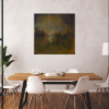 Ivona Radic In Another Time 81x81 Abstract Landscape Insitu Dining Room