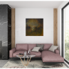 Ivona Radic In Another Time 81x81 Abstract Landscape Insitu Living Room