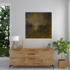 Ivona Radic In Another Time 81x81 Abstract Landscape Insitu Living Room2