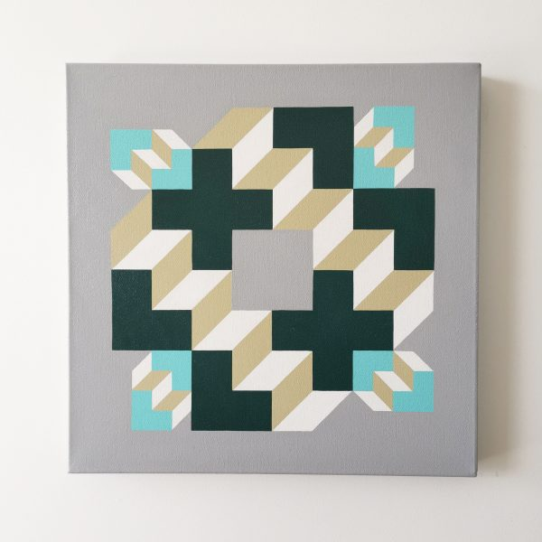 Min Ray Baby Steps, Daddy Steps 9 Art Lovers Australia Geometric Abstraction Big