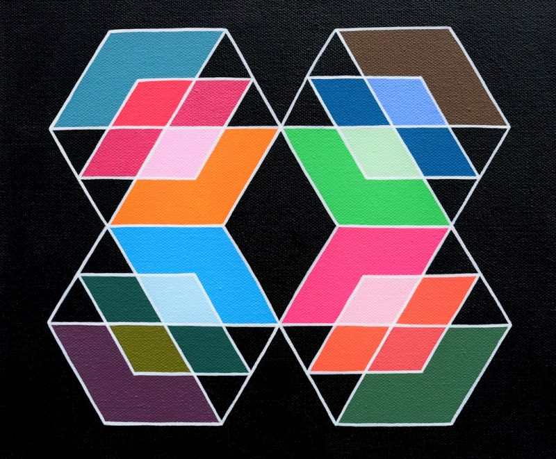 Min Ray Together 7 Geometric Abstract Art Art Lovers Australia Full 800x661