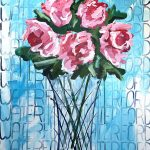 Waterford With Peonies