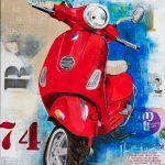 Red Vespa 74 Ltd Ed Print