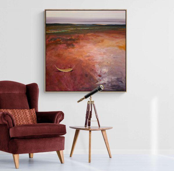 Tania Chanter Left B Yhe Breeze Landscape Artwork