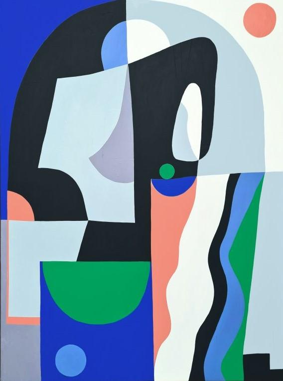 Amy Kim Abstract Art Geometrics Presence 76x100 2021 600x794
