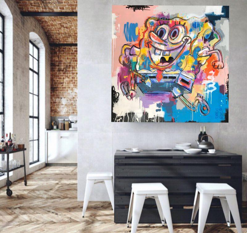 Coldghost Sponge Bob Squarepants Street Art
