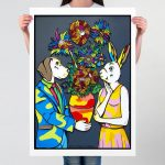 It was time for flower power Ltd Ed Giclee Print