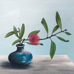 Pincushion Hakea in Blue Vase