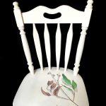 Broken chair with Eucalyptus Sideroxylon