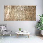 Tree Bark – gold abstract  minimalistic monochrome art