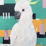 The White Cockatoo on Aqua