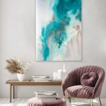 """Abstract Print – """"Tidal Flow"""""""