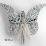 Emoria – vintage moth fairy – art doll sculpture
