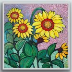 Speckly Sunflowers