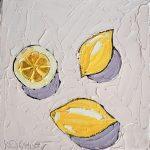 Lemons on Pale Pink
