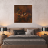 Ivona Radic Somewhere In Time 81x81 Abstract Landscape Insitu Bedroom