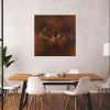 Ivona Radic Somewhere In Time 81x81 Abstract Landscape Insitu Dining Room