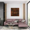 Ivona Radic Somewhere In Time 81x81 Abstract Landscape Insitu Living Room