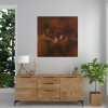Ivona Radic Somewhere In Time 81x81 Abstract Landscape Insitu Living Room2