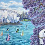 Jacaranda blooming in Sydney