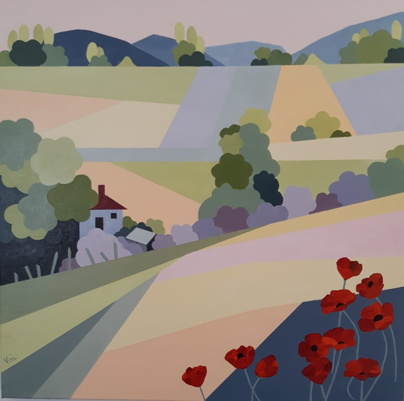 Poppies On The Hill 800x794