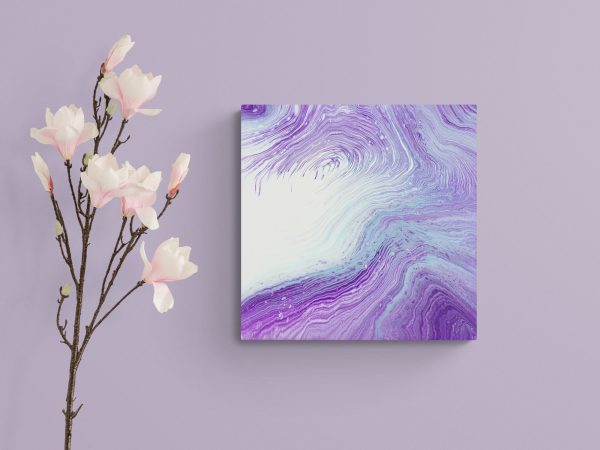 Purple Abstract Painting Dreamy Peace Visions By Michelle Tracey