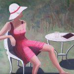 Red Dress White Hat