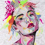Pretty in Pink Face – Original Collage