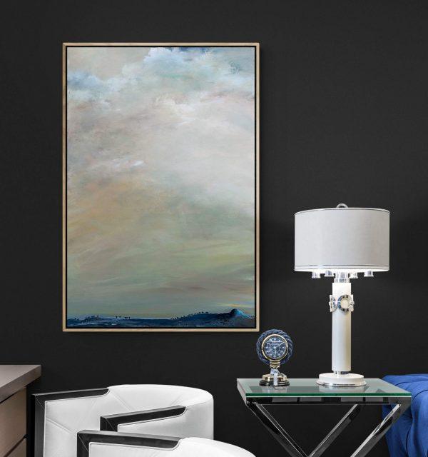 Tania Chanter Above The Blue Hills Landscape Artwork