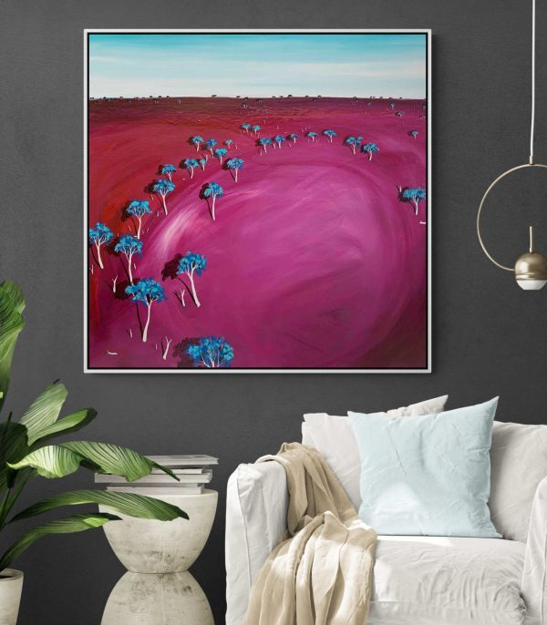 Tania Chanter Pink Afternoon Haze Landscape Artwork