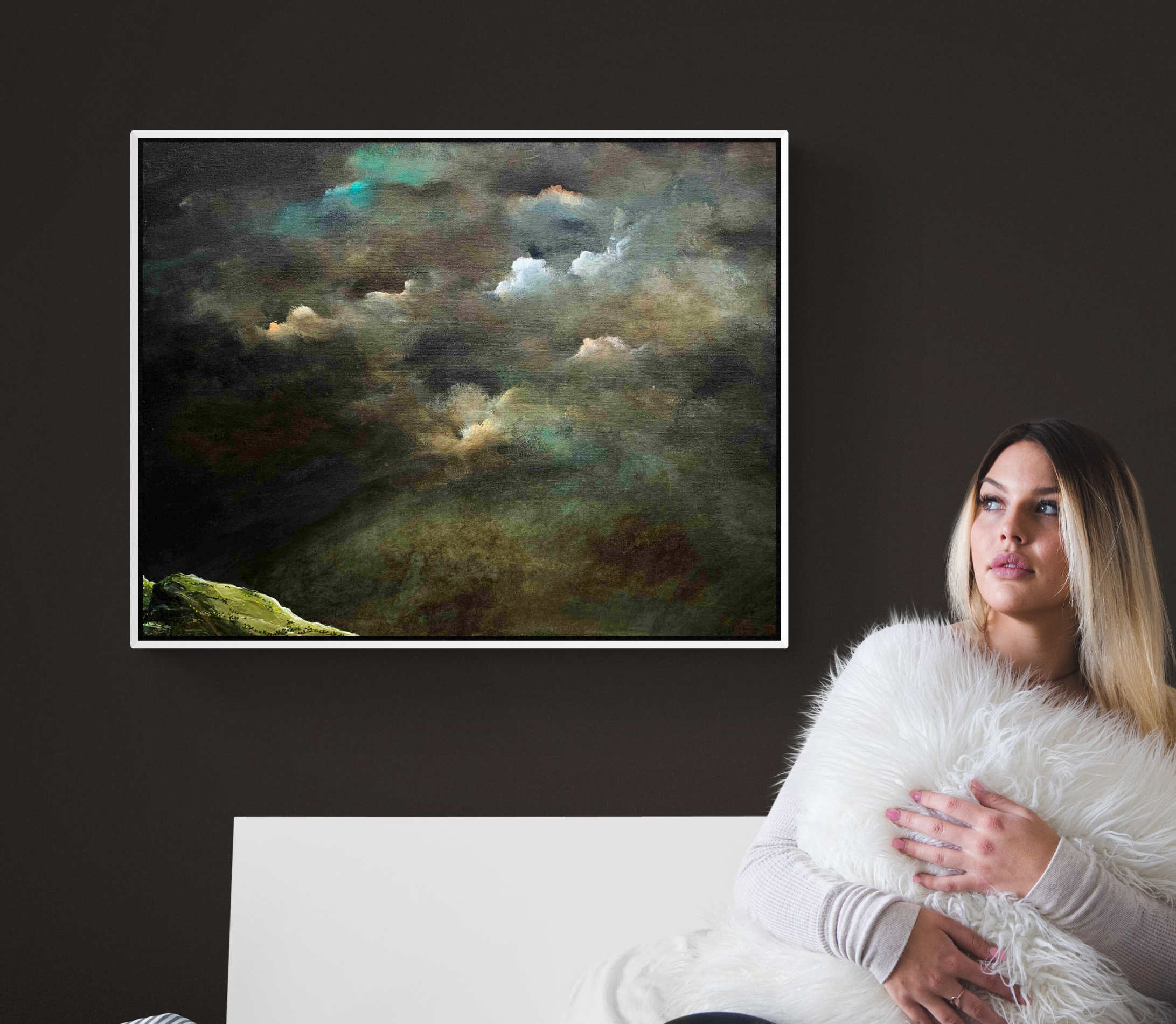 Tania Chanter Storm Above The Meadow Cloudscape