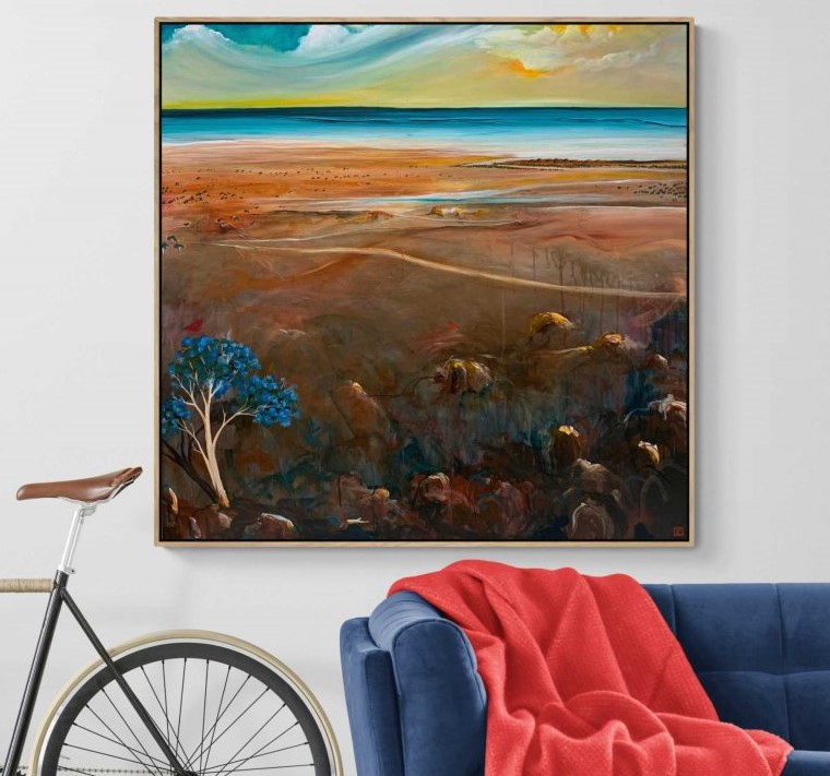 Tania Chanter The Distant Shore Landscape Art 800x893