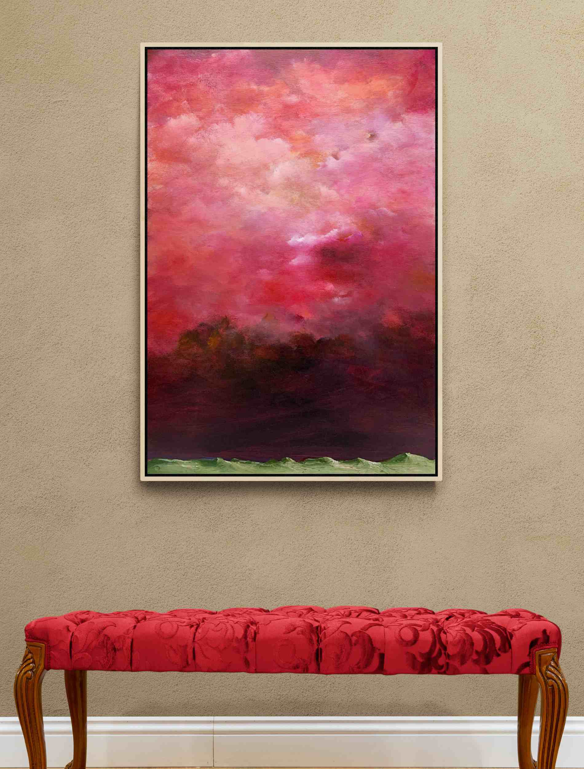 Tania Chanter Under A Crimson Sky Cloudscape