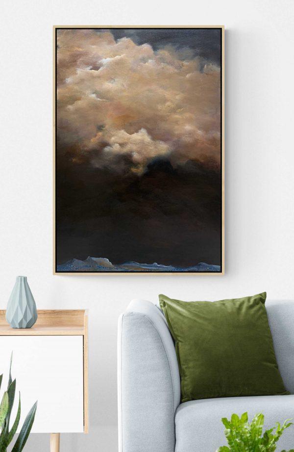 Tania Chanter Winter Sky In July Cloudscape Art