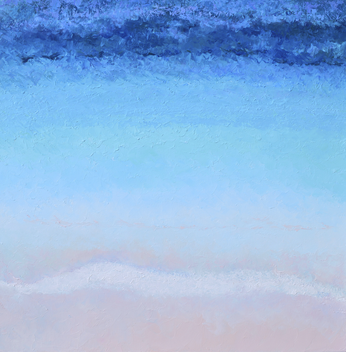 Turquoise Blue Ocean Abstract, Beach Painting By Jan Matson