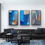Hilly Outlook- Triptych