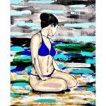 Blue Bikini 2 – Woman at the Beach/Ocean