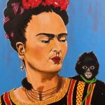 Frida with her monkey